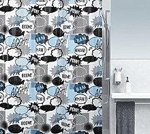 Spirella 1018688Wow PEVA Shower Curtain with