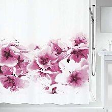 Spirella Amanda Pink Shower Curtain, Pink & White