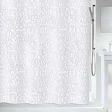 Spirella Creamy Silver Shower Curtain, 180 cm x