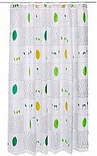 Spirella Kim Green Textile Curtain 180 x 180