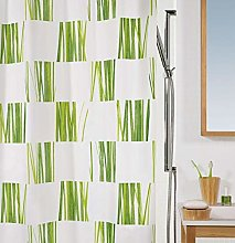 Spirella Seagrass Green Textile Polyester Shower