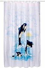 Spirella Textile Curtain Orca Aqua 180 x 200