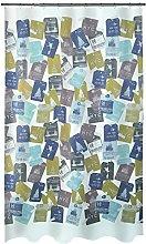 Spirella Textile Shower Curtain Travel, Fabric,