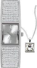 Spirit Ladies Silver Crystal Bangle Watch &