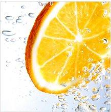 Splash Orange Semi-Gloss Wallpaper Roll East Urban