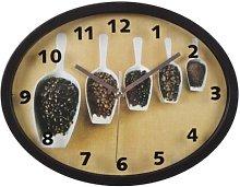 Splendid Nesca–czarny Clock, Plastic, Glass,