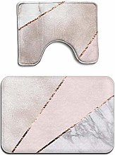 Spliced Mixed Rose Gold Marble 2 Piece Bathroom