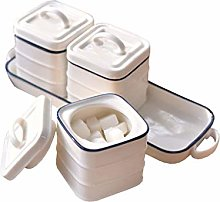 SPNEC Household Spice Box, Spice Container White