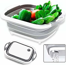 Spongent Collapsible Cutting Board Colander Dish
