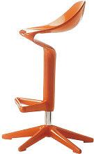 Spoon Adjustable bar stool - Pivoting - Plastic by