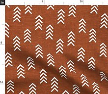 Spoonflower Fabric - Arrow Stripes Orange Burnt