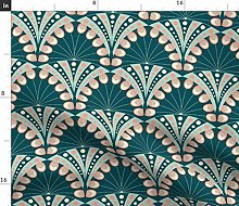 Spoonflower Fabric - Art Deco Peacock Feathers