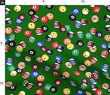 Spoonflower Fabric - Balls Large Pool Billiards