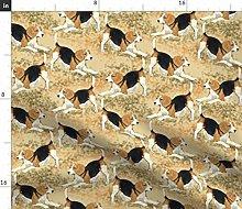 Spoonflower Fabric - Beagle Dog Puppy Hound