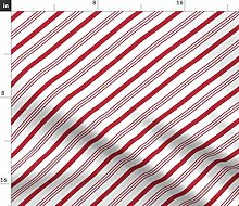Spoonflower Fabric - Candy Stripes Red White Canes