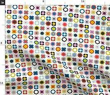 Spoonflower Fabric - Daisies Small Scandinavian