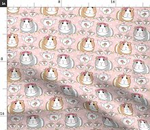 Spoonflower Fabric - Guinea Pig Tea Party Cute
