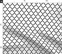 Spoonflower Fabric - Moroccan Quatrefoil White
