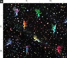 Spoonflower Fabric - Watercolour Space Fairies