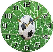 Sport Ball Soccer Football Wall Clock Silent Non