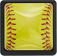 Sport Ball Yellow Baseball, 3 Pcs Crystal Class