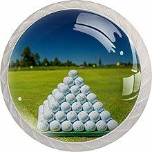 Sport Balls White Crystal Drawer Handles Furniture