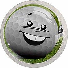 Sport Golf White Crystal Drawer Handles Furniture