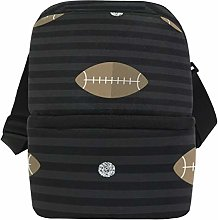 Sport Rugby Pattern Insulated Lunch Bag for Women