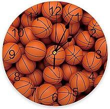 Sports Basketball Modern Wall Clock For Home