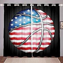 Sports Basketball Window Curtain for Boys Teens