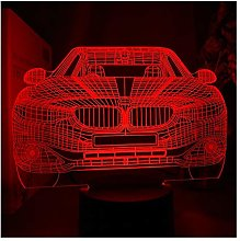 Sports Car 3d Illusion Usb Table Lamp