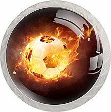 Sports Soccer Football Fire Kitchen Cupboard