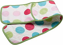 Spots Pattern Quilted Double Oven Glove Kitchen