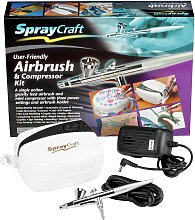Spraycraft Gravity Feed Airbrush and Compressor Kit