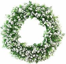 Spring Daisy Wreath, Front Door Artificial Green