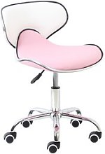 Spring Desk Chair Symple Stuff Colour: Pink/White