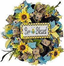 Spring Door Wreath, 11 Styles Front Door Bee