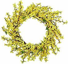 Spring Flower Leaf Wreath, wuayi Artificial