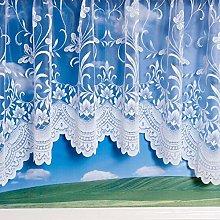 Spring - Jardiniere Curtain - White - 381x114cm