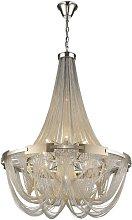 Spring Lighting - 6 Light Chandelier Silver