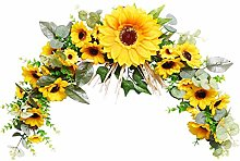 Spring Summer Artificial Yellow Wreath, wuayi Fake