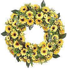 Spring Sunflower Wreath, Front Door Wreath