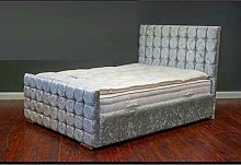 Spring Well, Cubes Style Bed Frame with diamond