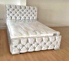 Spring Well, Modren ATN Bed Frame with diamond