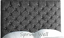 Spring Well, Upholstered Headboard Roma with
