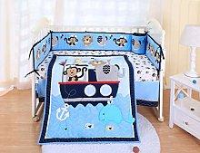 SpringBaby Crib Bedding Set 7 Piece, 100% Soft