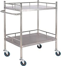 SPRINGHUA Trolley - Double Stainless Steel Medical