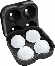 SpringPear® Black Silicone Ice Cube Tray with Lid