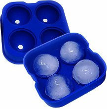 SpringPear® Blue Silicone Ice Cube Tray with Lid