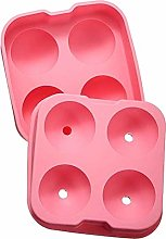 SpringPear® Pink Silicone Ice Cube Tray with Lid